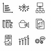 Set Of 9 Simple Editable Icons Such As 3d Data Analytics, Binary Processed Mobile Analysis, Mobile S poster