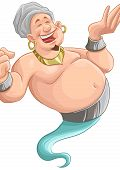 pic of genie  - happy fat genie smiley in the moment when he appears - JPG