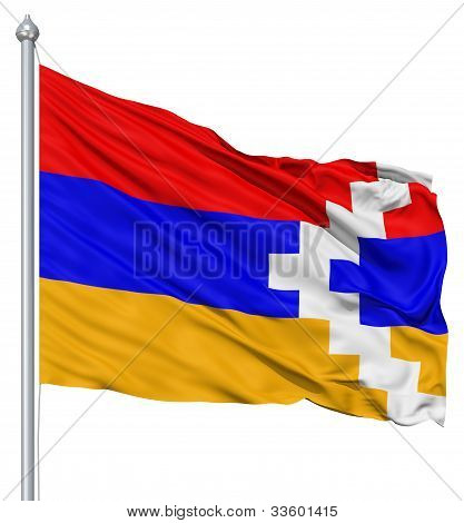 Waving flag of Nagorno-Karabakh