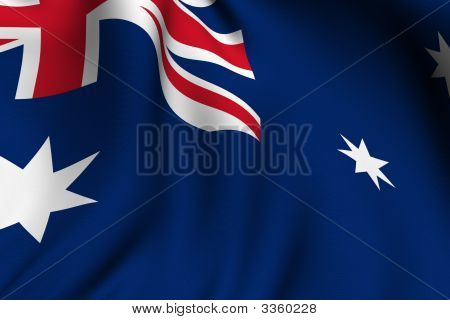 Rendered Australian Flag