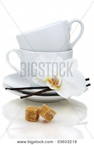 Tea Cups, Sugar And Vanilla.