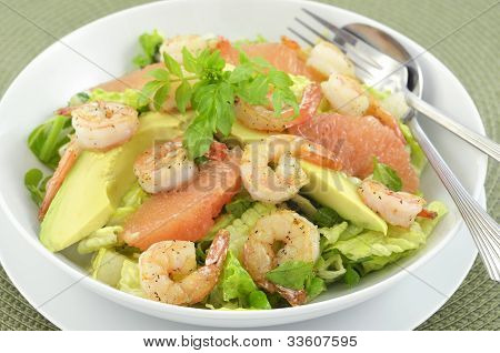 Prawns, Grapefruit And Avocado Salad