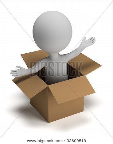 3D Small People In The Box