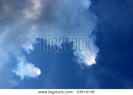 Deep Blue with Clouds