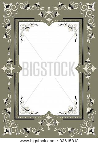 Frame with Eastern decor