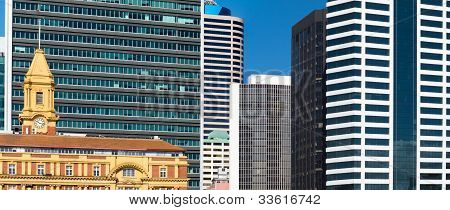 Abstract of modern architecture downtown buildings