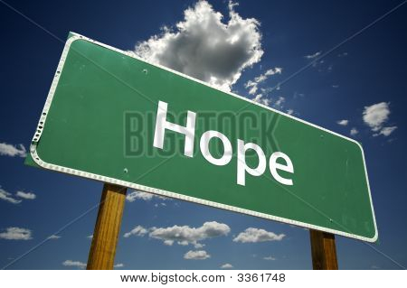 Hope Road Sign