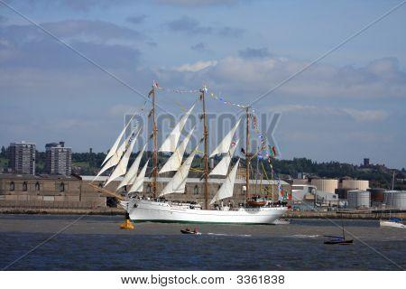 At The Tall Ships Parade Of Sail