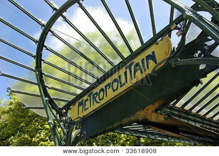 Typical Parisian Underground Entrance