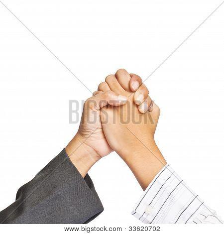 Zwei Business-Hände