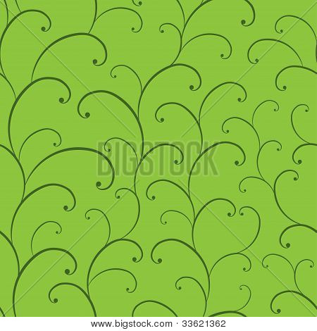 Hands draw floral seamless pattern