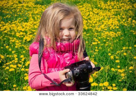 Little photographer girl