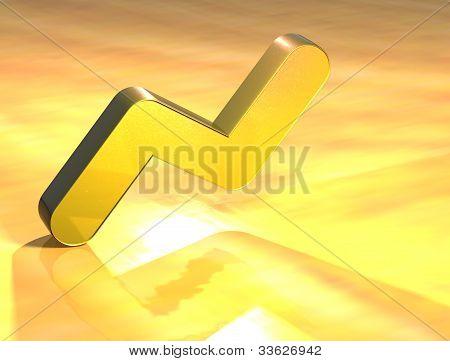 3D Graph Gold Sign