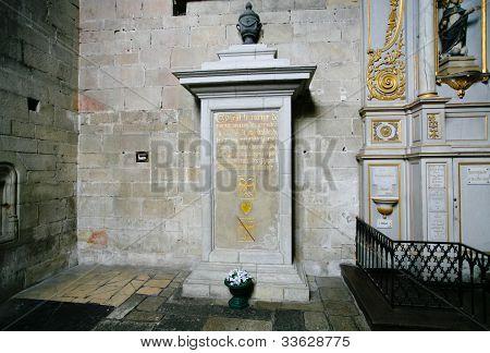Medieval Tomb Of Heart Bertrand Du Guesclin,