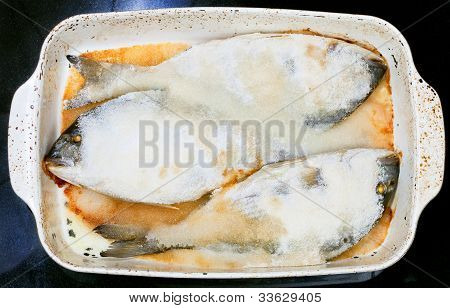 Baked In Sea Salt Fish