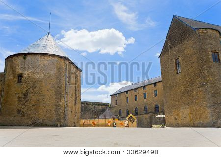 Courtyard In Medieval Chateau