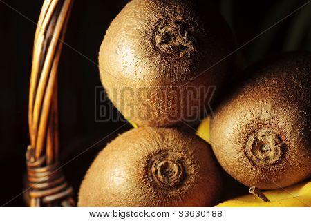 Still Life Of Fruit Texture Highlighting Organic Cultivation