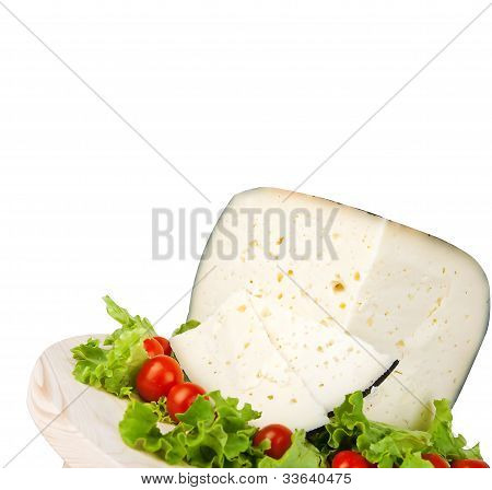 Pecorino With Tomatoes And Salad