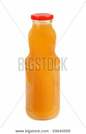 Juice In A Glasses  Isolated  On  White Background