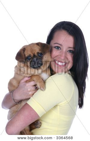 Pretty Teen And Her Dog