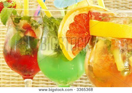 Three Nonalcoholic Cocktails