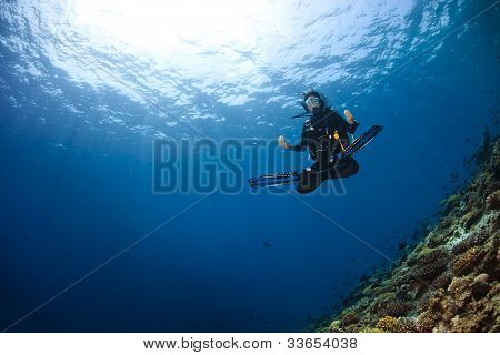 Woman Scubadiving