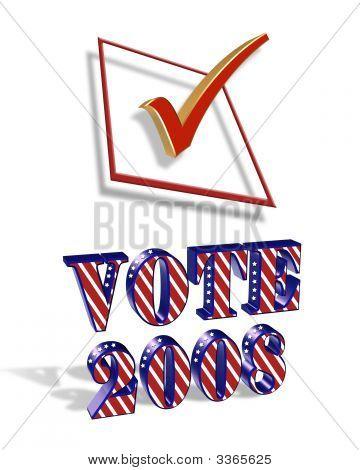 Check Box Vote 2008 3D