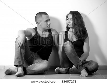 Portrait of happy loving couple
