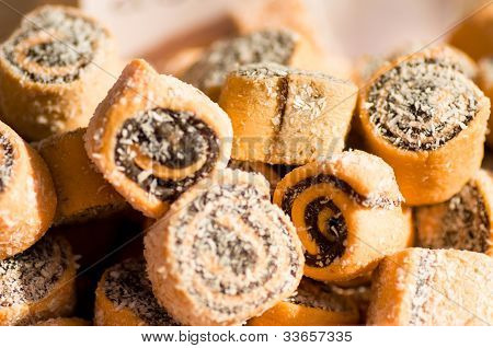 Traditional baked delicious Eastern sweetness folded background