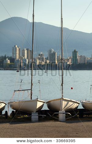 Sailboat Storage, English Bay, Vancouver