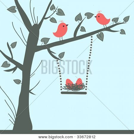 Vector Bird Card