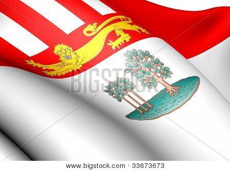 Постер, плакат: Флаг Острова принца Эдуарда Канада , холст на подрамнике