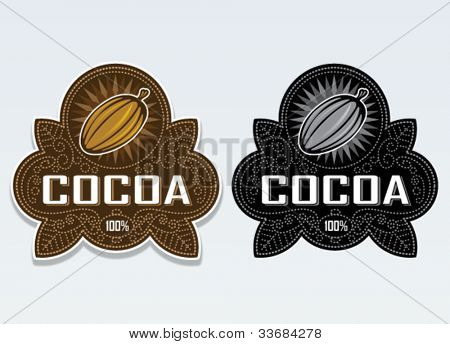 Cocoa 100% Seal / Sticker