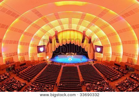 NEW YORK CITY - MAY 15: Radio City Music Hall May 15, 2012 in New York, NY. Completed in 1932, the famous music hall was declared a city landmark in 1978.