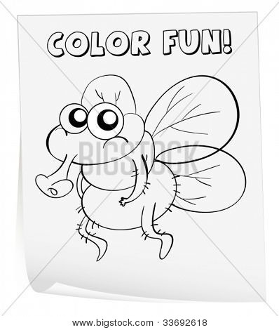 Illustration of a colouring worksheet (germ)