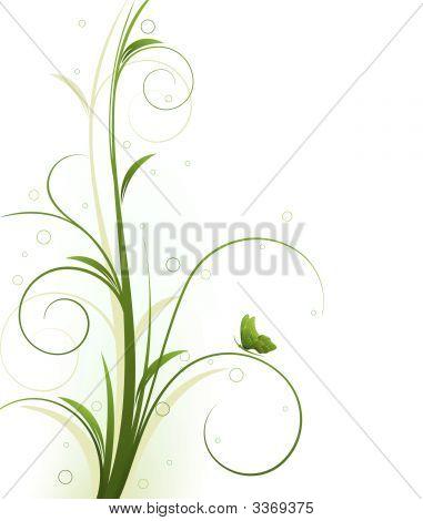 Diseño floral Vector
