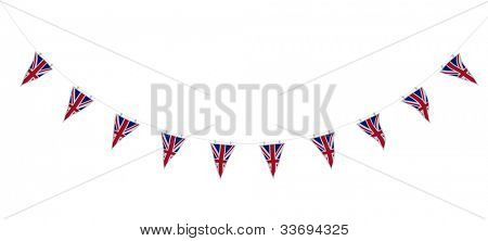 3D render of Union Jack Bunting and Banners