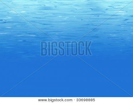Water background underwater
