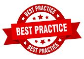 Best Practice Ribbon. Best Practice Round Red Sign. Best Practice poster