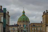 Copenhagen, Denmark: The Dome Of Frederiks Church In Copenhagen, Denmark poster