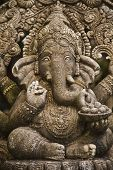 stock photo of laddu  - God ganesh statue of hindo in Bangkok Thailand temple - JPG