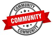 Community Label. Community Red Band Sign. Community poster