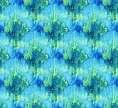 Seamless Tie-dye Pattern Of  Blue Color On White Silk. Hand Painting Fabrics - Nodular Batik. Shibor poster