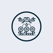 Drone Icon Isolated On White Background From Aviation Collection. Drone Icon Trendy And Modern Drone poster