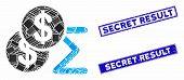 Mosaic Money Summary Pictogram And Rectangle Secret Result Seals. Flat Vector Money Summary Mosaic P poster