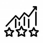 Bonus Star Statistics Icon Vector. Outline Bonus Star Statistics Sign. Isolated Contour Symbol Illus poster