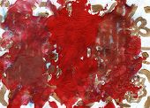 Red Contemporary Abstract Painting Background With Paint Mark, Blot, Stain, Smudge, Smear. Texture W poster