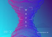 Gradient Party Flyer. Energy Show Invitation Layout. Dynamic Fluid Shape And Line. Gradient Party Fl poster