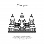 Angkor Wat Vector Icon Isolated On White Background, Angkor Wat Transparent Sign , Line Or Linear Si poster