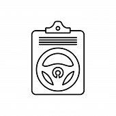 Black Line Icon For Auto-insurance-policy Auto Insurance Policy Agreement Finance Vehicles poster